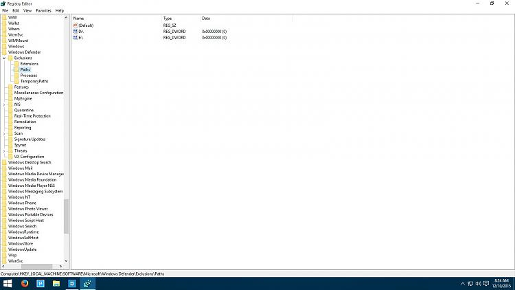Click image for larger version.  Name:registry - Windows Defender - Exclusions List.jpg Views:563 Size:140.1 KB ID:42318