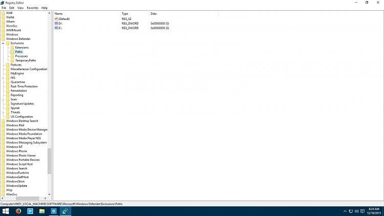 Click image for larger version.  Name:registry - Windows Defender - Exclusions List.jpg Views:2273 Size:140.1 KB ID:42318