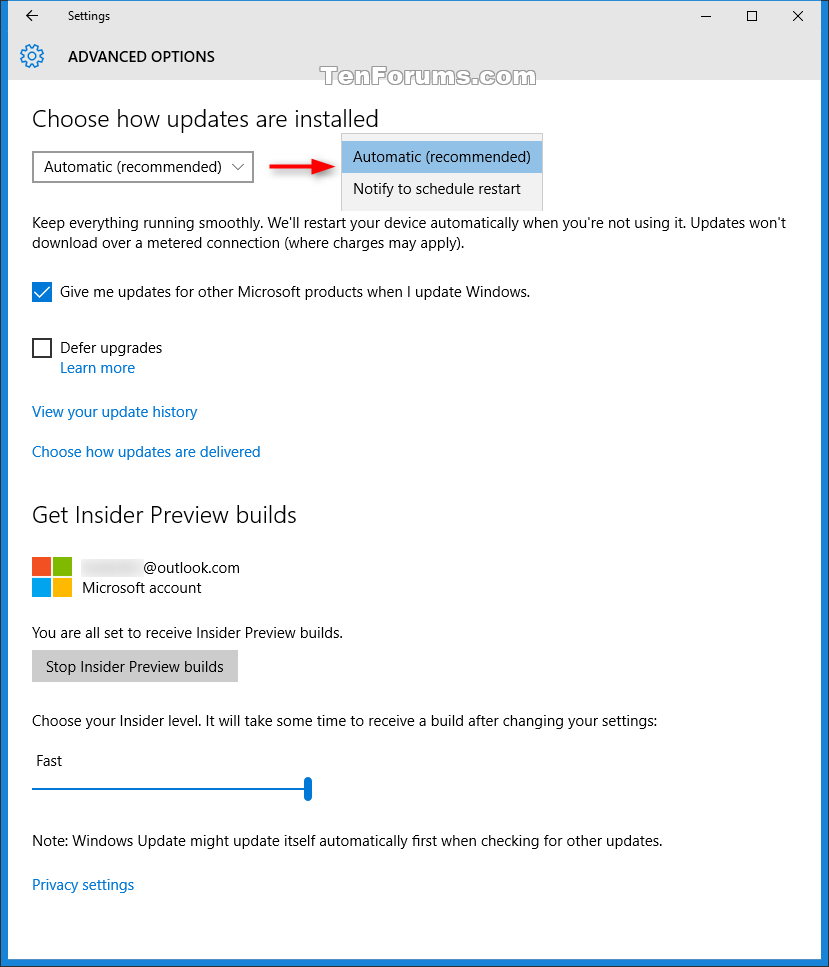 Choose When To Restart For Windows Update In Windows 10