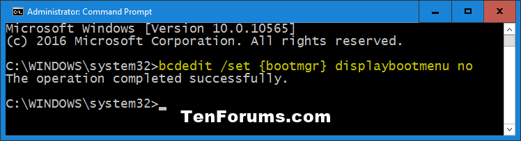Enable or Disable F8 Advanced Boot Options in Windows 10-displaybootmenu-no.png
