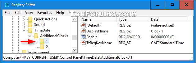 Add or Remove Additional Time Zone Clocks on Taskbar in Windows 10-additional_clock_1_registry.png