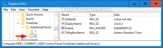 Add or Remove Additional Time Zone Clocks on Taskbar in Windows 10-additional_clock_2_registry.png