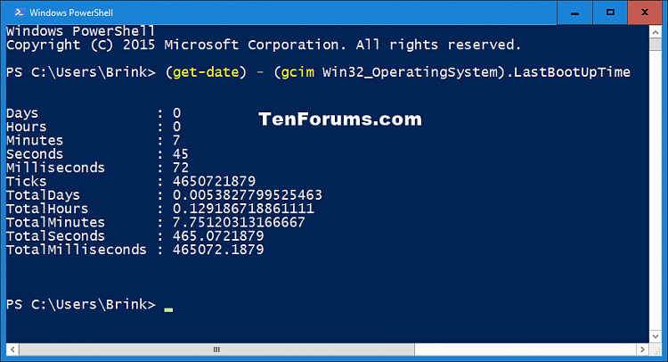Click image for larger version.  Name:Uptime_PowerShell.png Views:1382 Size:25.1 KB ID:46014