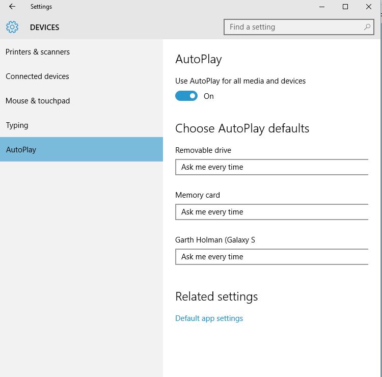 Autoplay turn on or off in windows 10 windows 10 tutorials