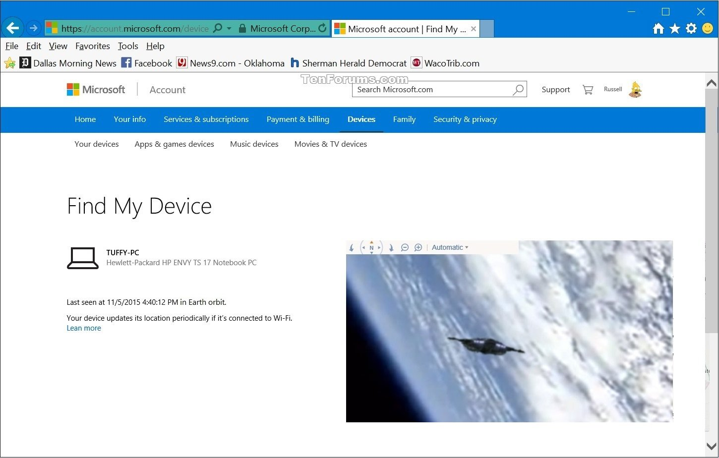 Turn On or Off Find My Device in Windows 10 | Tutorials