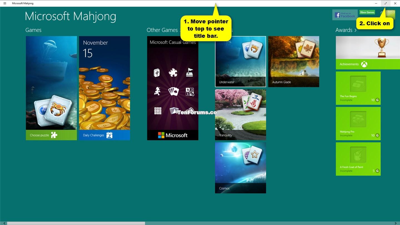 Display Apps in Full Screen View in Windows 10   Tutorials