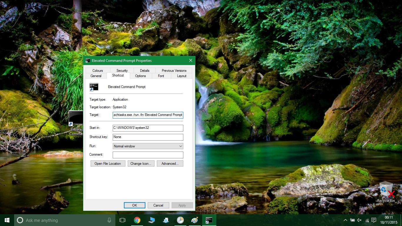 starte windows 10 som administrator