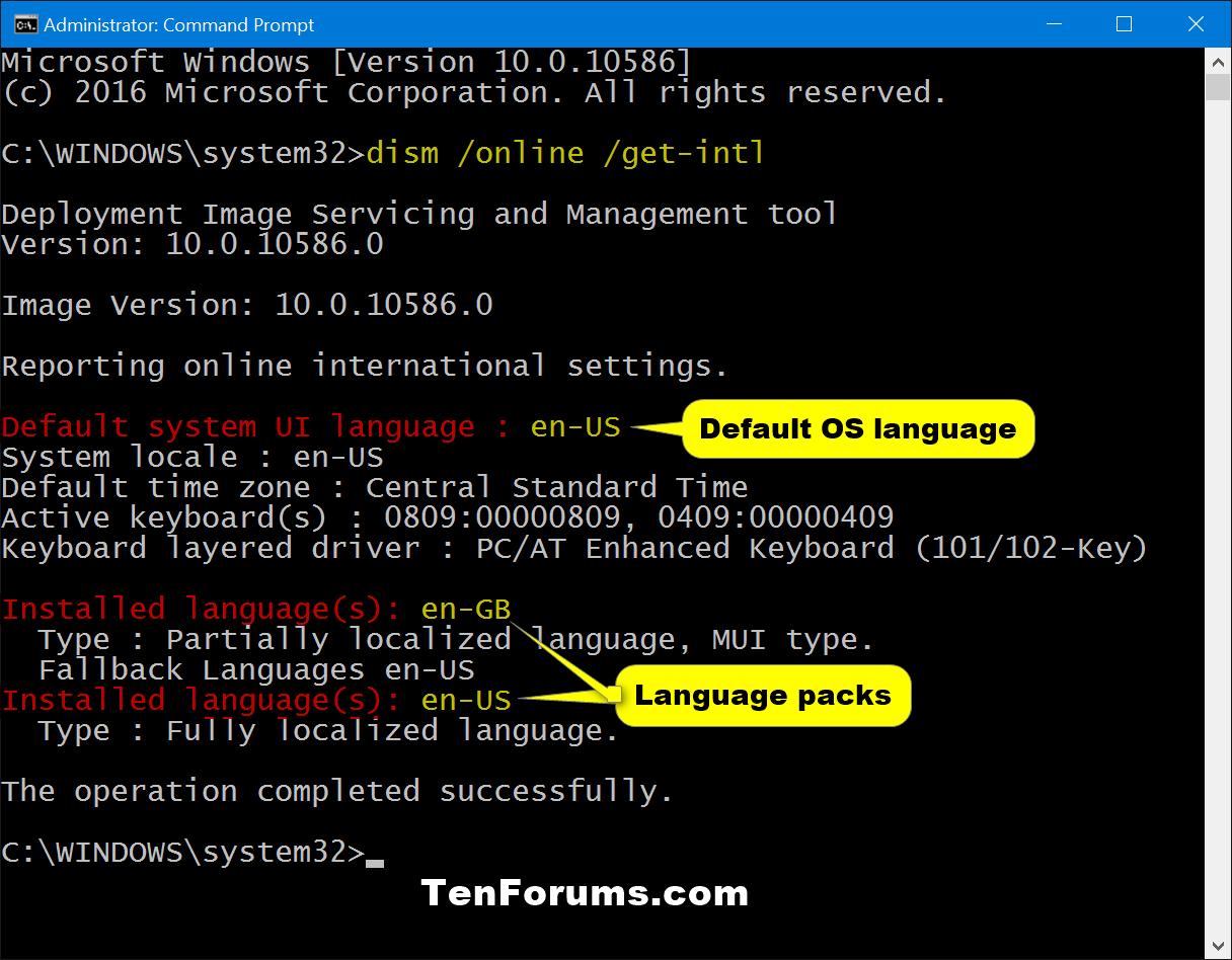 See System Default UI Language of Windows 10 | Tutorials