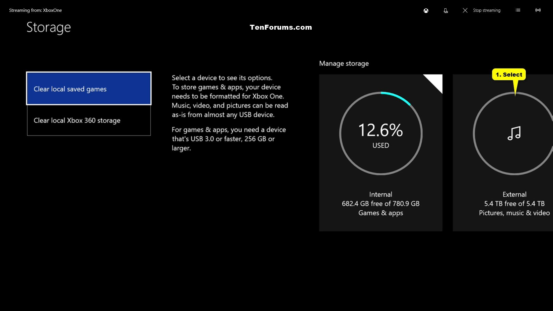Set Up External Storage on Xbox One | Tutorials