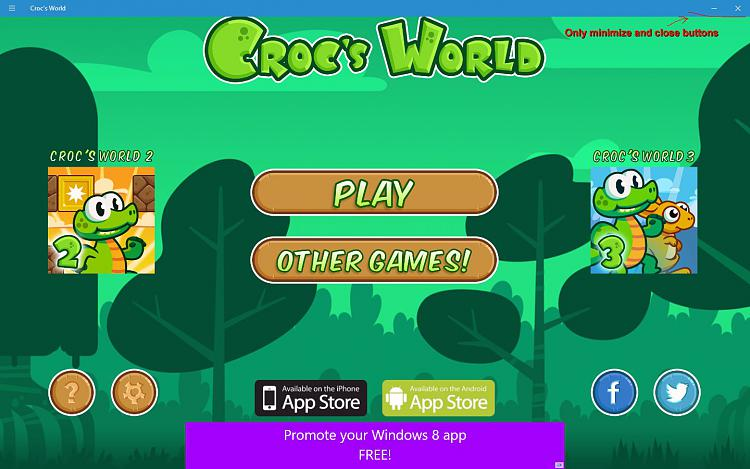 Click image for larger version.  Name:Croc's World full screen.jpg Views:357 Size:165.9 KB ID:49728