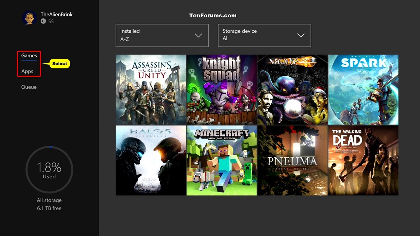 X Box 1 Games : Uninstall xbox one games and apps windows tutorials