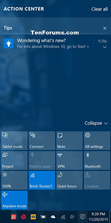Turn On or Off Notifications from Apps and Senders in Windows 10-tips_in_action_center.png