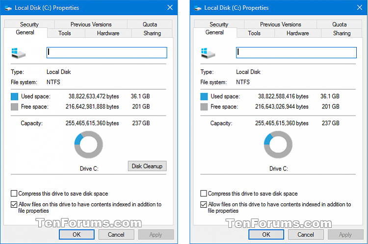 Click image for larger version.  Name:Disk_Cleanup_drive_properties.png Views:3103 Size:29.4 KB ID:52262