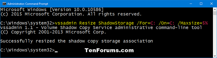 Click image for larger version.  Name:vssadmin_resize_shadowstorage_percentage.png Views:151 Size:21.5 KB ID:53136