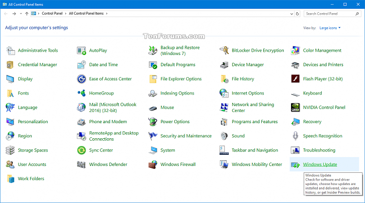 Add Windows Update to Control Panel in Windows 10-wiindows_update_in_control_panel.png