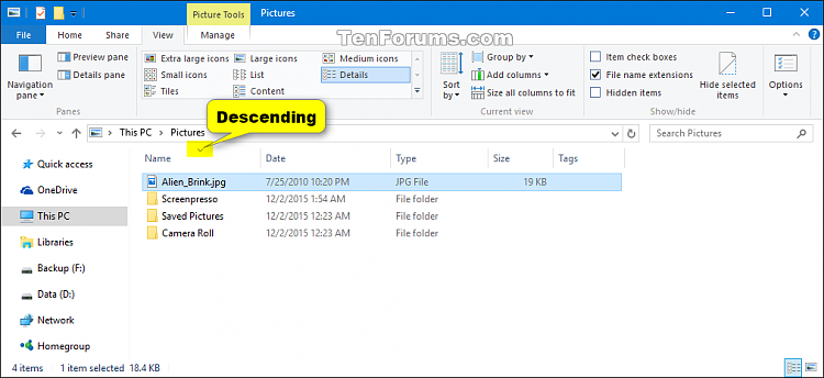 Change Sort by View of Folder in Windows 10-folder_view_sort_by_details_column-3.png