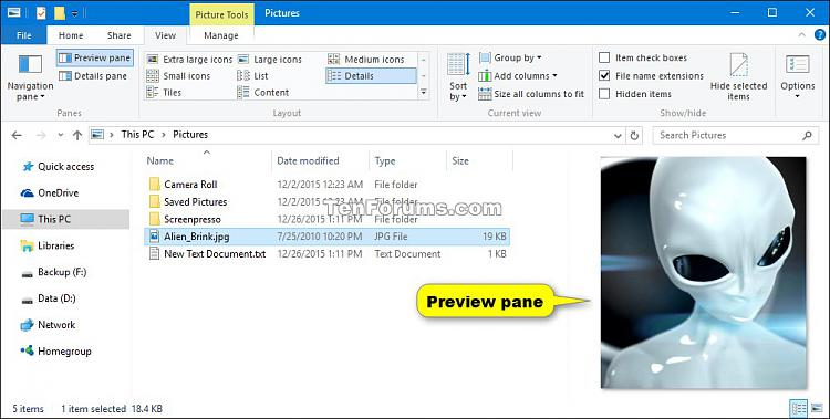Show or Hide Preview Pane in File Explorer in Windows 10-preview_pane-2.jpg