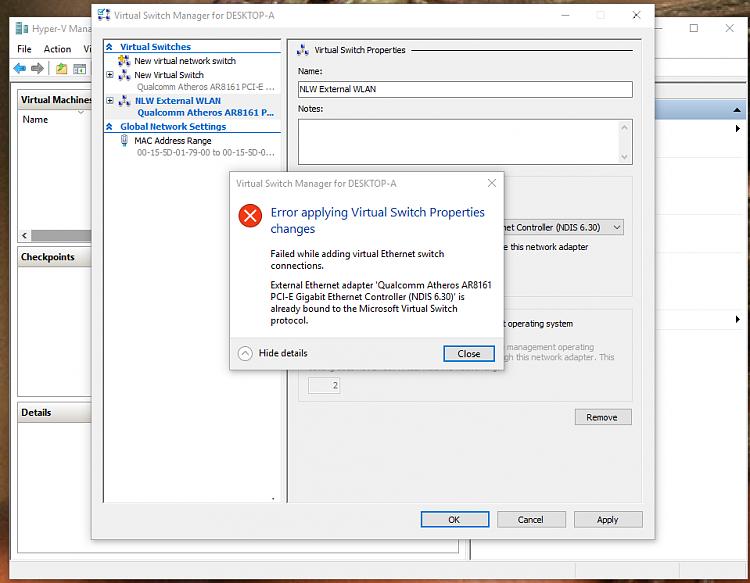 Click image for larger version.  Name:Hyper-V Error Details.PNG Views:35 Size:103.1 KB ID:56465