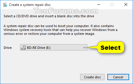 repair windows 10 without cd