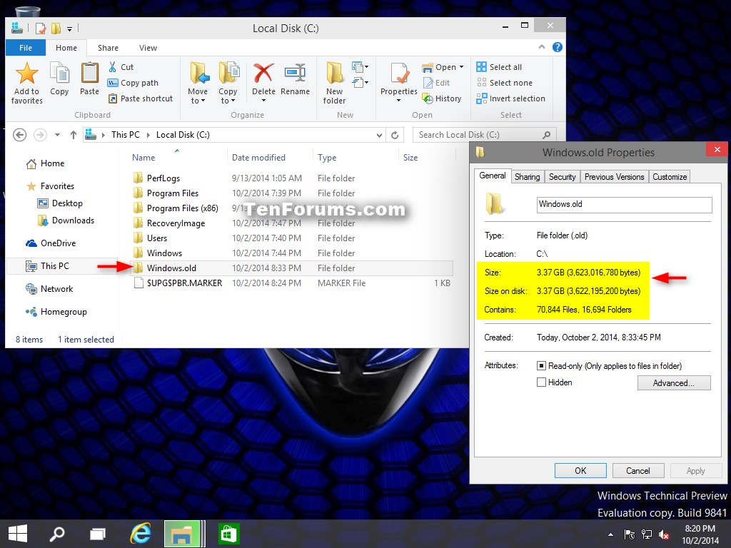 How to Delete Windows.old and $Windows.~BT folders in Windows 10 ...