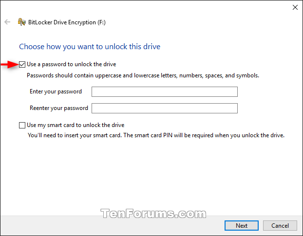 Turn On or Off BitLocker for Removable Data Drives in