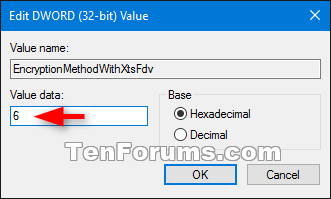 Change BitLocker Encryption Method and Cipher Strength in Windows 10