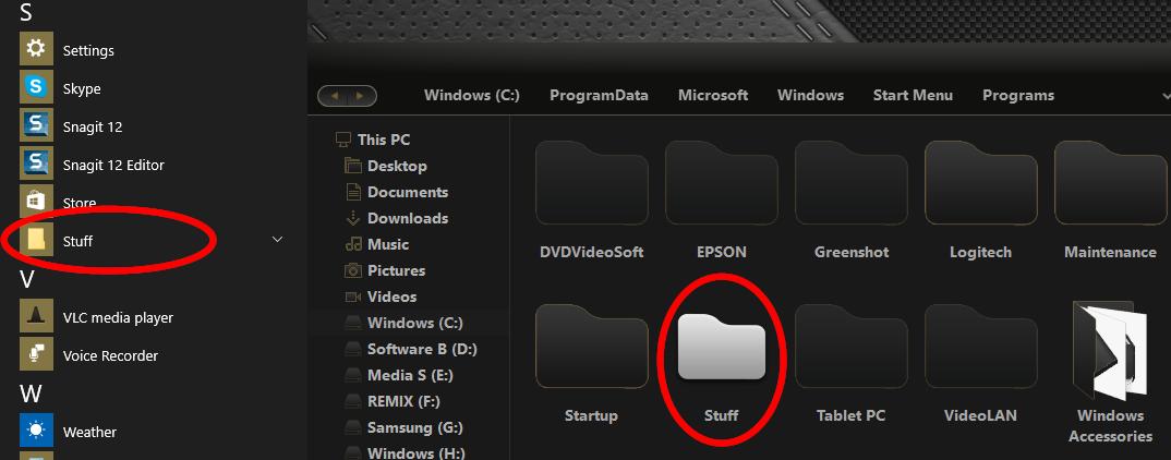 windows 10 how to change open folders