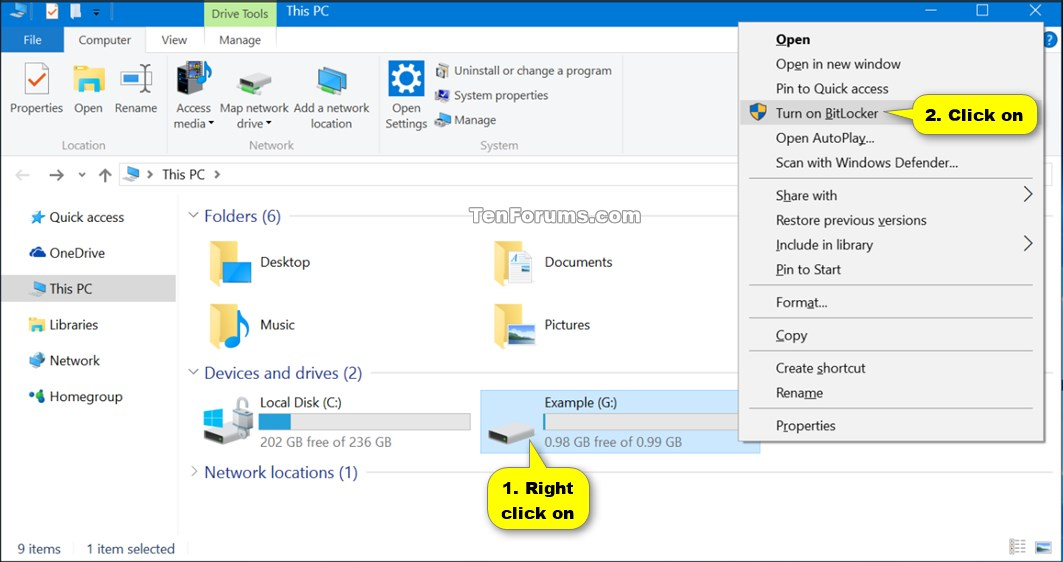 Turn On or Off BitLocker for Fixed Data Drives in Windows 10 | Tutorials