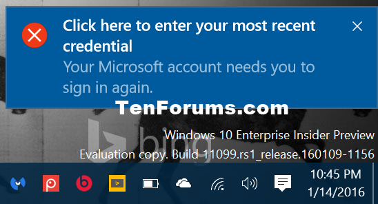 Fix Click here to enter your most recent credential in Windows 10-click_here_to_enter_your_most_recent_credential.png