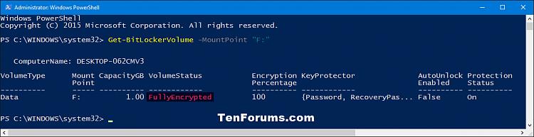 Check BitLocker Drive Encryption Status in Windows 10-bitlocker_status-encrypted_powershell.png