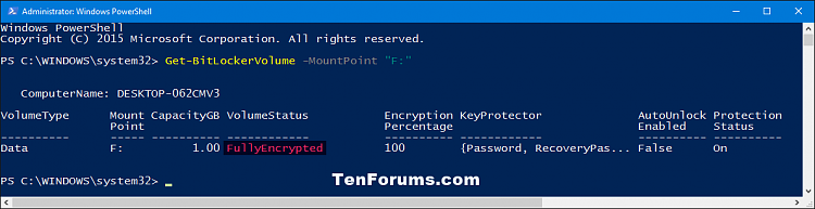 Click image for larger version.  Name:BitLocker_Status-encrypted_PowerShell.png Views:360 Size:20.7 KB ID:58991