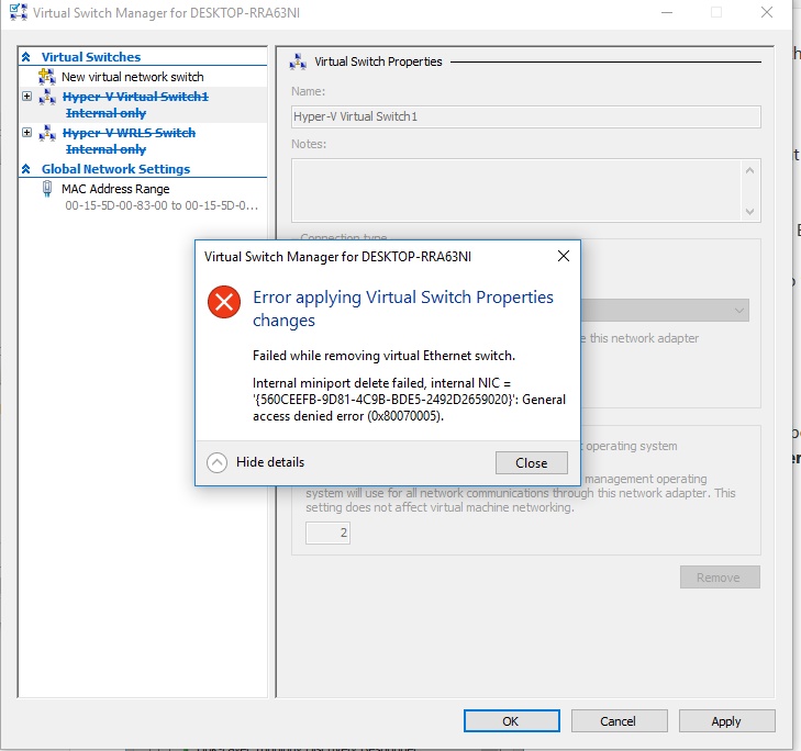 Hyper-V virtualization - Setup and Use in Windows 10-del-switches-error.png