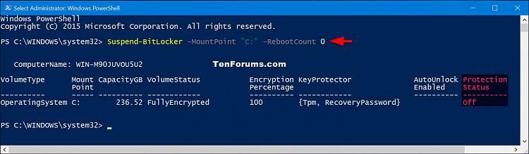 Click image for larger version.  Name:Suspend_BitLocker_protection_PowerShell-2.jpg Views:499 Size:116.3 KB ID:60509