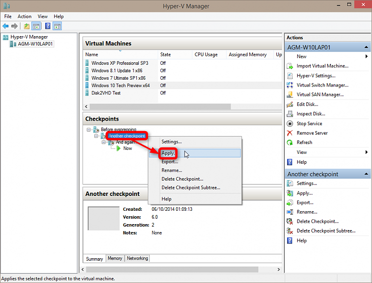 Create and Use Hyper-V Checkpoints in Windows 10-2014-10-06_01h34_02.png