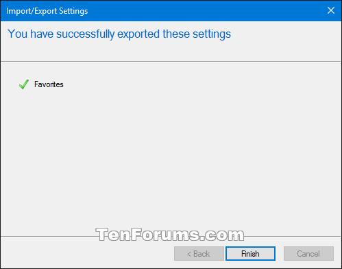 import or export internet explorer favorites with htm in