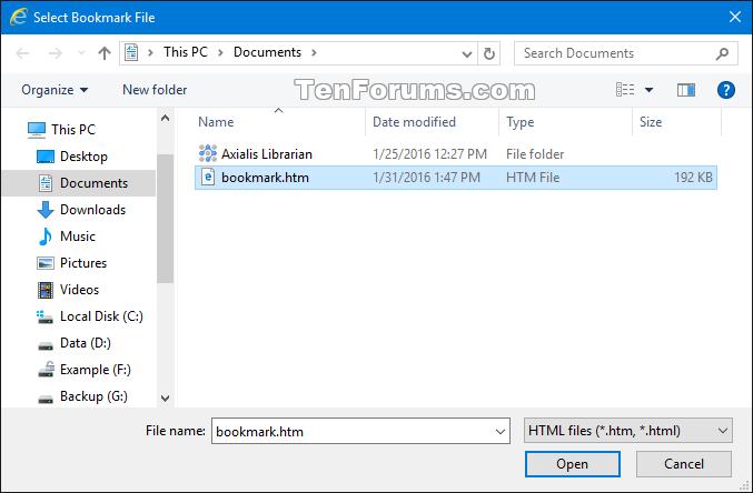 Import or Export Internet Explorer Favorites with HTM in Windows 10-internet_explorer_import_htm-3b.png