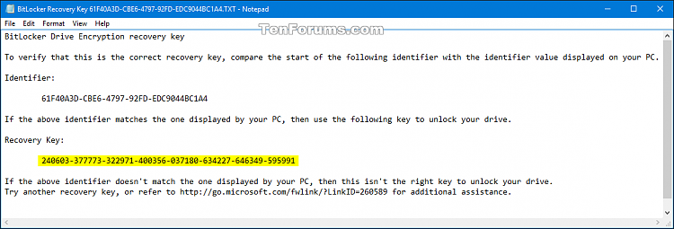 Click image for larger version.  Name:BitLocker_recovery_key_file.png Views:716 Size:27.4 KB ID:62427
