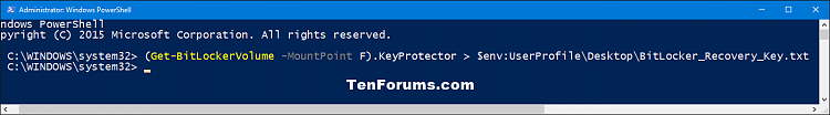 Click image for larger version.  Name:BitLocker_recovery_key_PowerShell-1.png Views:405 Size:16.2 KB ID:62428