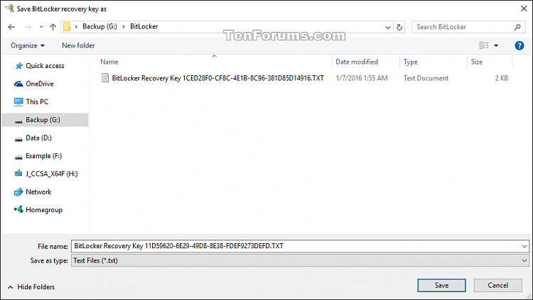 Click image for larger version.  Name:Save_BitLocker_recovery_key.png Views:212 Size:27.6 KB ID:62433