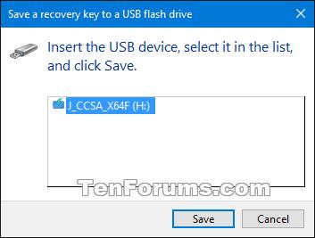 Backup BitLocker Recovery Key in Windows 10 | Tutorials