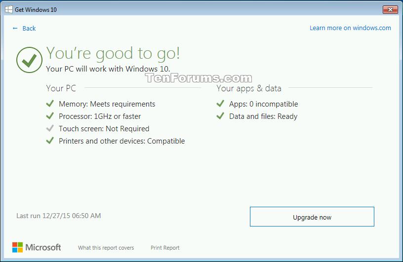 windows 10 upgrade checker