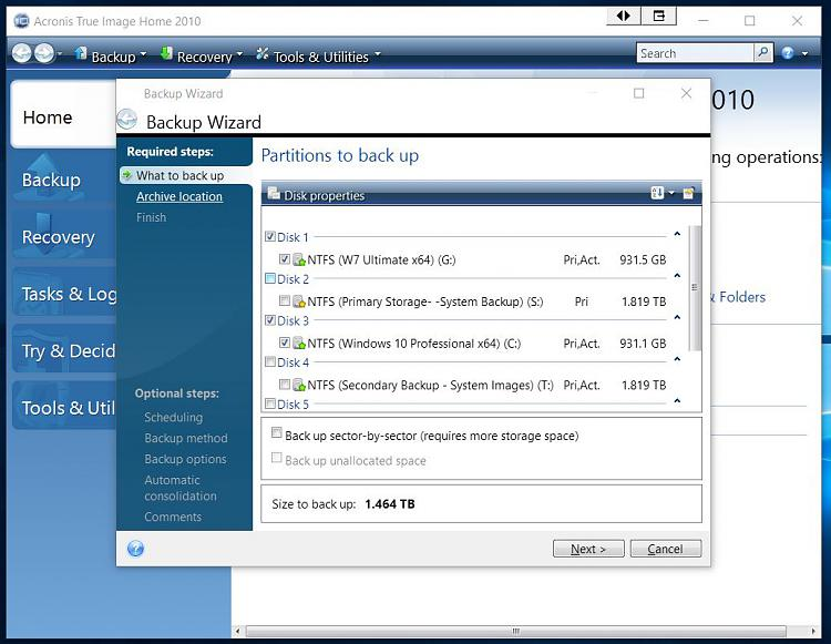 Click image for larger version.  Name:ACRONIS TI Home 2010 Backup of Both OS Drives.jpg Views:172 Size:121.3 KB ID:62836
