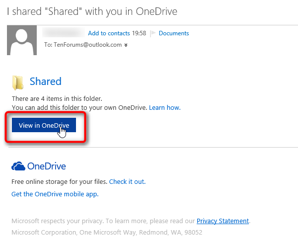 how to add instagram folder to onedrive