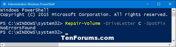 Name:  PowerShell_repair-volume_SpotFix.png Views: 54562 Size:  13.2 KB