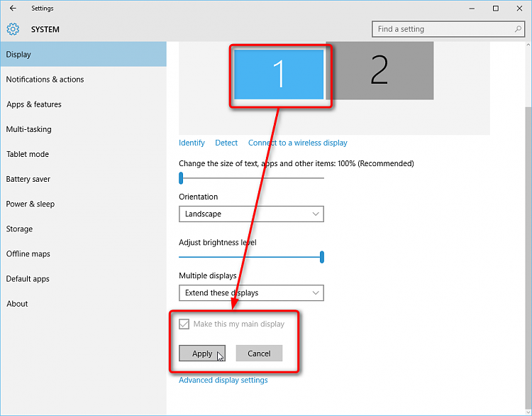 how to change windows 10 layout
