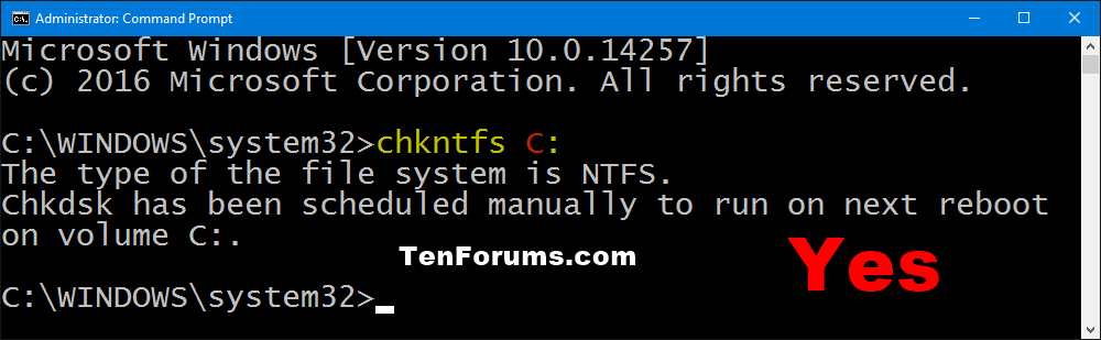 how to run a chkdsk on windows 10