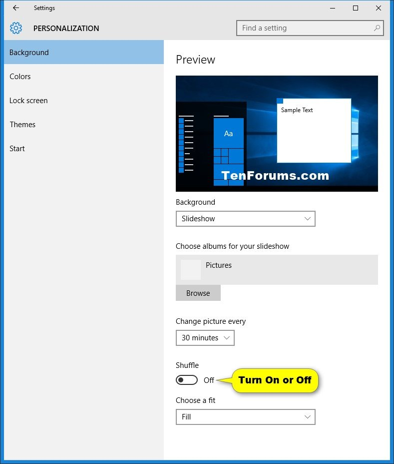 View Slide Show Of Pictures In Windows 10 Tutorials