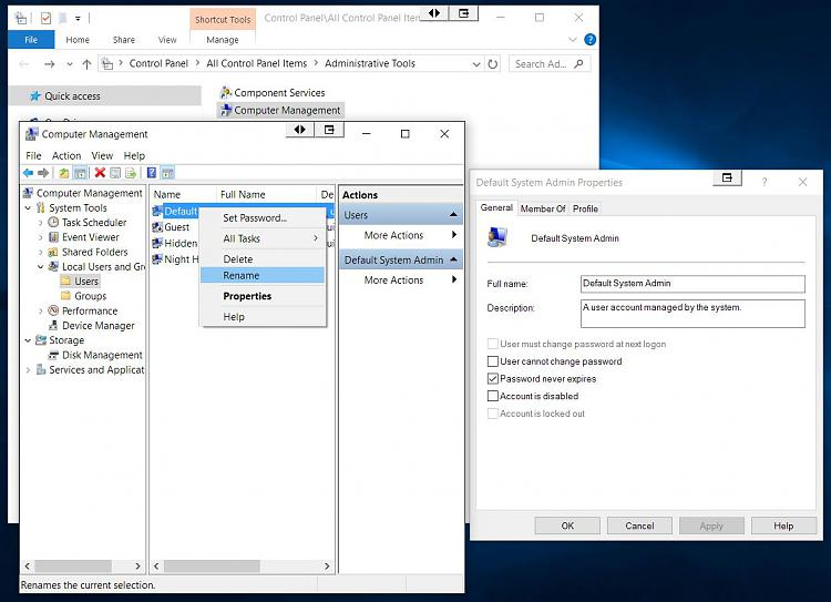 Click image for larger version.  Name:W10 Hidden Administrator Enable and Rename.jpg Views:128 Size:131.3 KB ID:65537