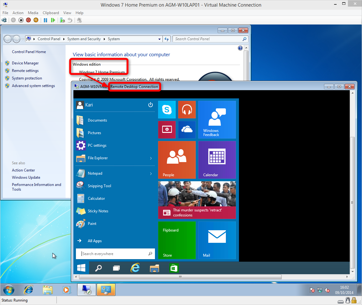 how to use a machine in windows 10