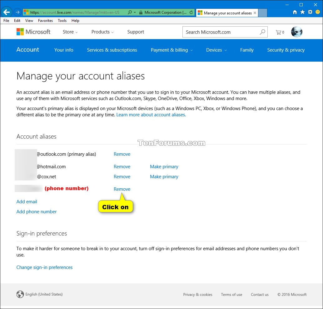 how to create microsoft account in windows 10